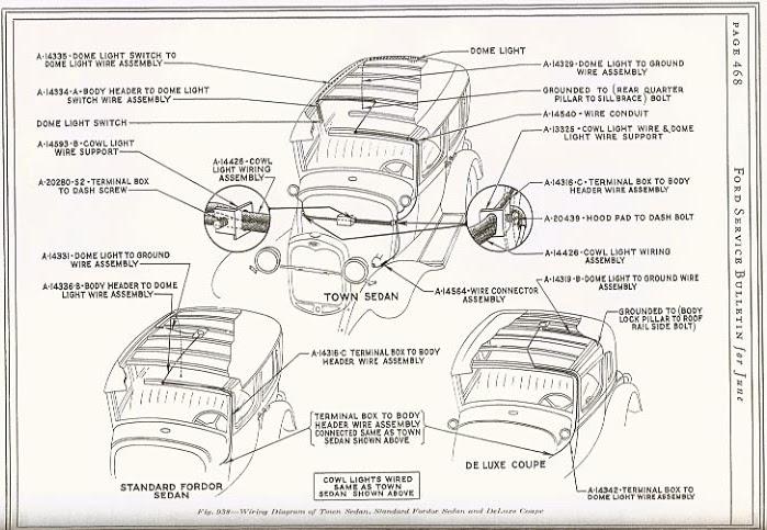Wiring Manual PDF: 1928 Ford Tudor Model A Wiring Diagram