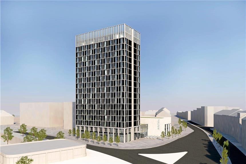 Bauprojekte Ruhrgebiet Dortmund  HotelHochhaus Westfalentor  60m