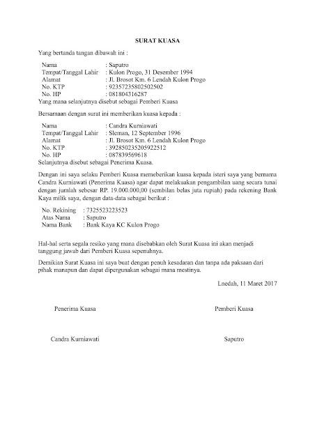 Contoh Surat Kuasa Ke Bank : contoh, surat, kuasa, Contoh, Surat, Kuasa, Seputar
