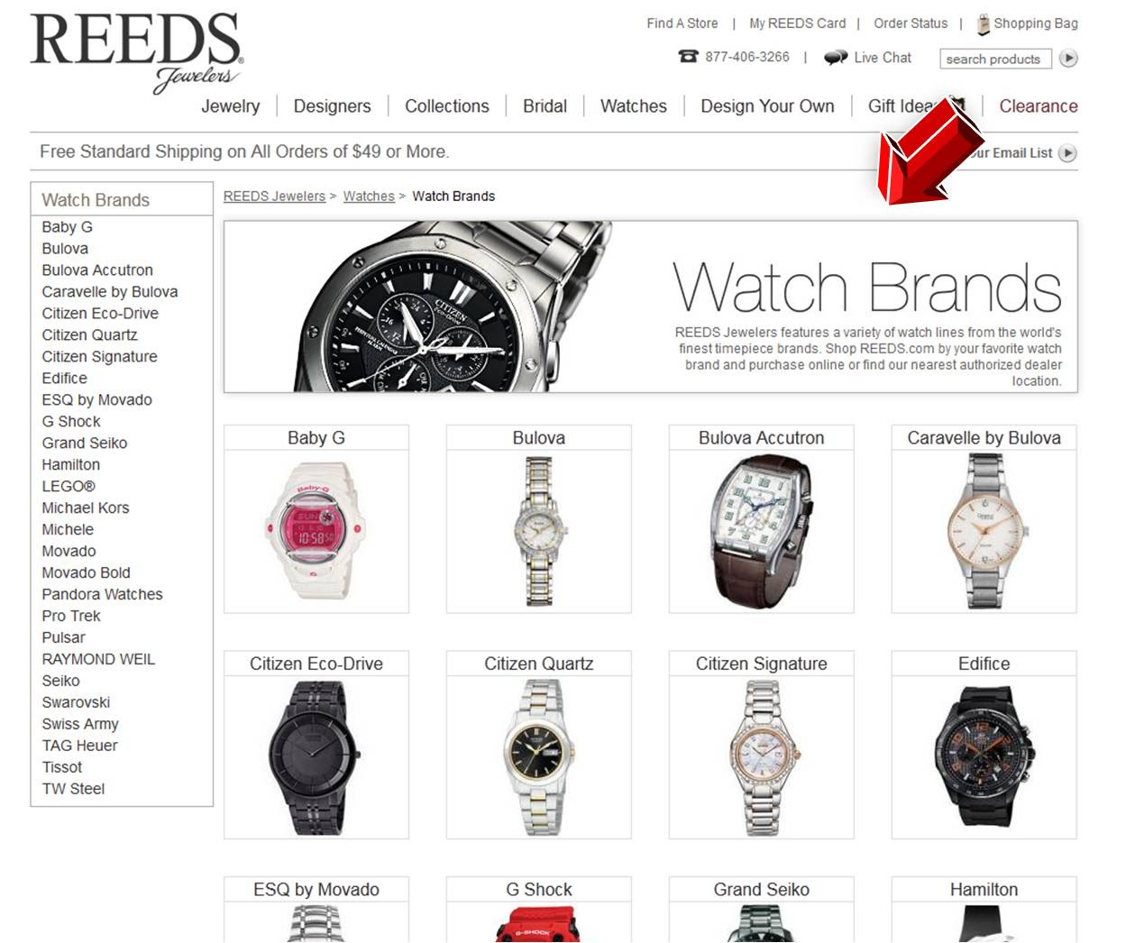 Find a watches and win discount!: List of brands of