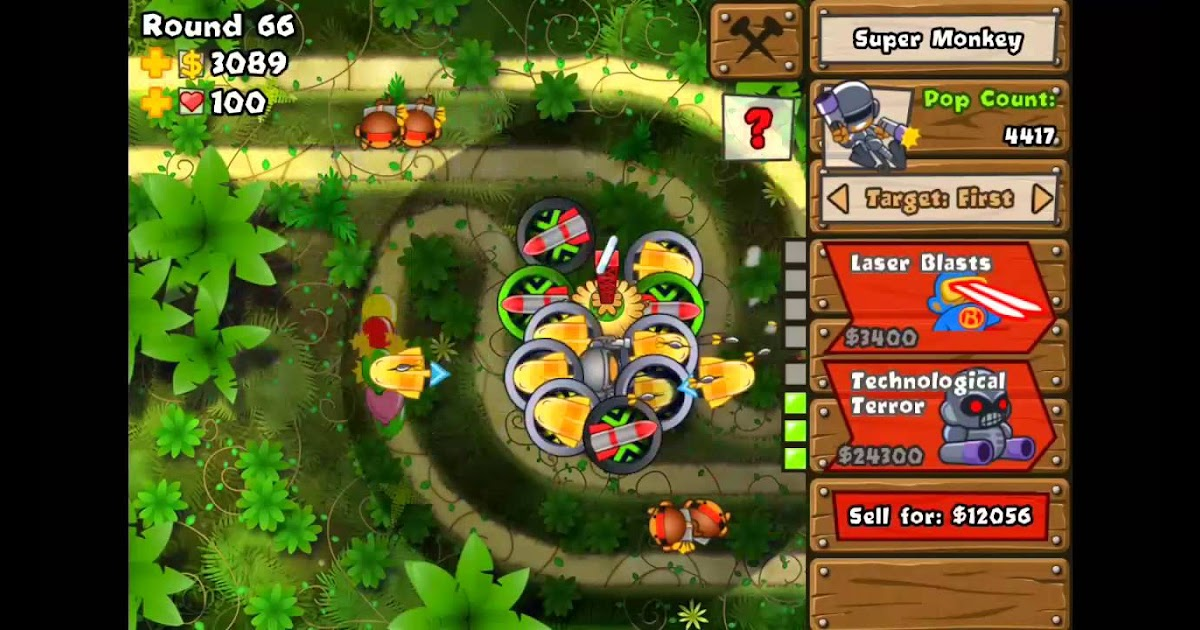 Black And Gold Games: Bloons Tower Defense 5 Jungle Hard