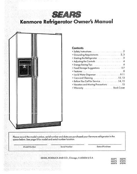 Free Download kenmore refrigerator service manual Free