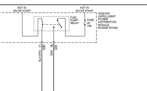 2008 Nissan An Fuel Pump Relay Location / Fuse Box Diagram