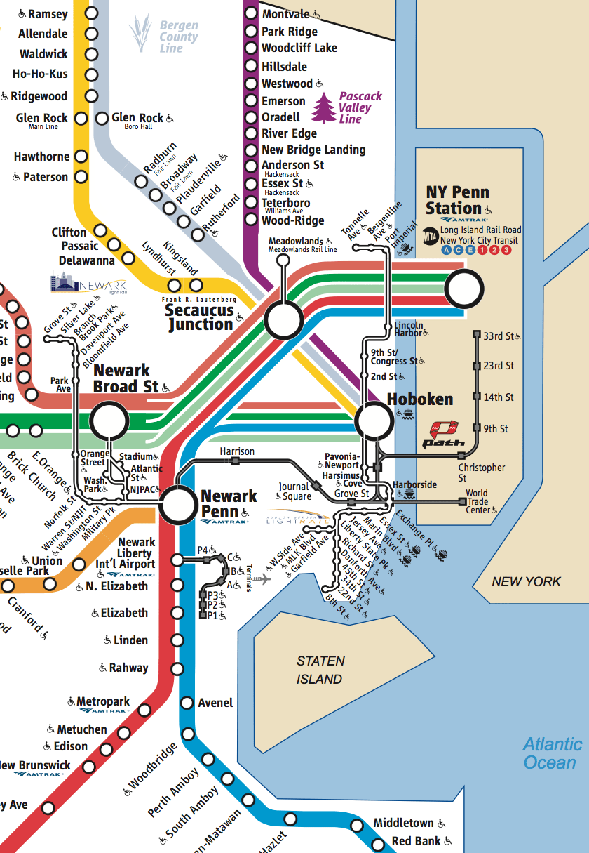 Nj Transit Zone Map : transit, Transit, World, Atlas