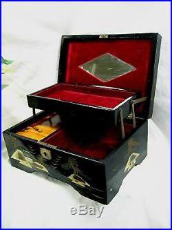 Japanese Musical Box : japanese, musical, Antique, Japanese, Jewelry, Music