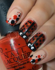 painted pretty opi lady bug nail