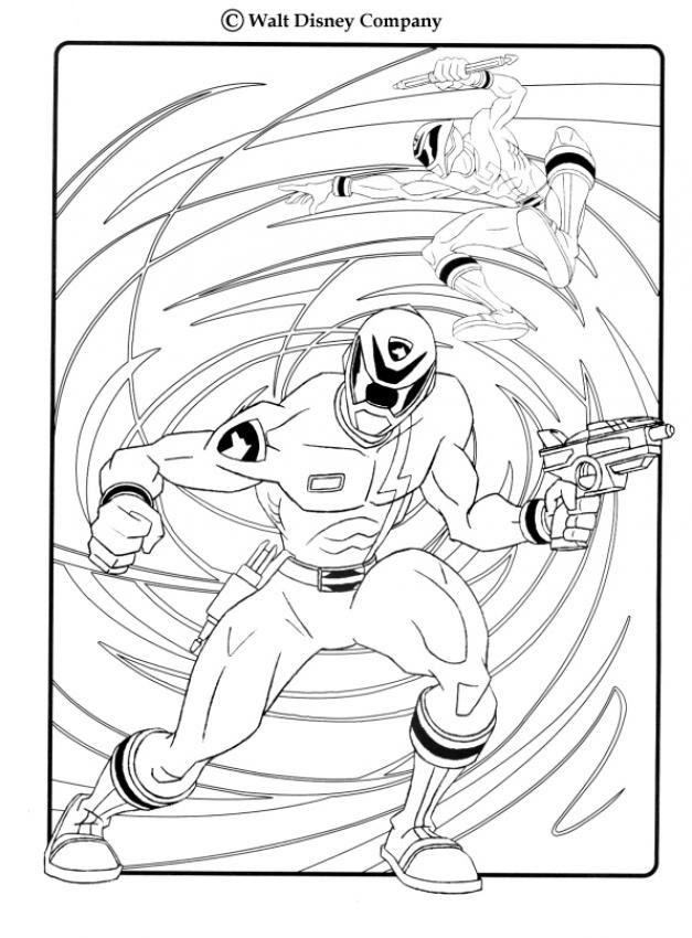 Ausmalbild Power Ranger - Malvorlagen Gratis