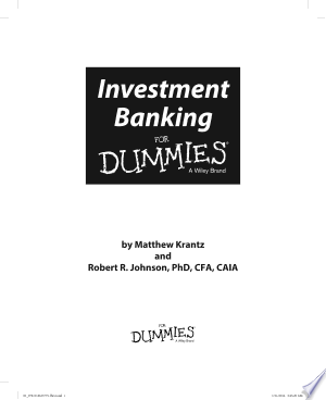 Best Book library: Download Investment Banking For Dummies