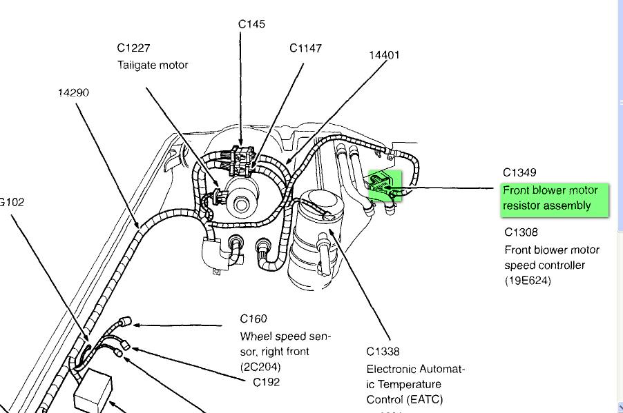 2003 Chevy Silverado Blower Motor Resistor Replace