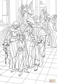 Imagen Sagrada Familia Para Colorear Imprimir Dibujo De La