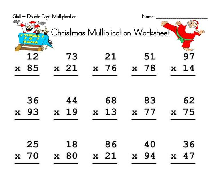 Have Fun Teaching Blog: Christmas Double Digit
