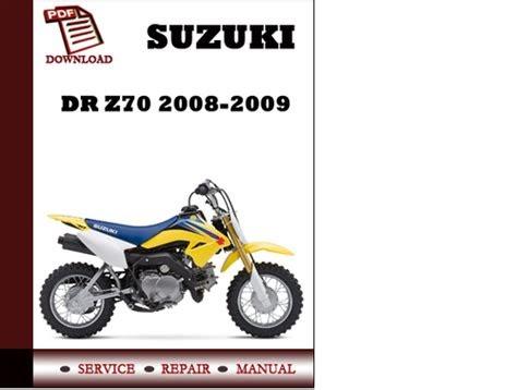 Read 2008 2009 suzuki dr z70 service repair manual