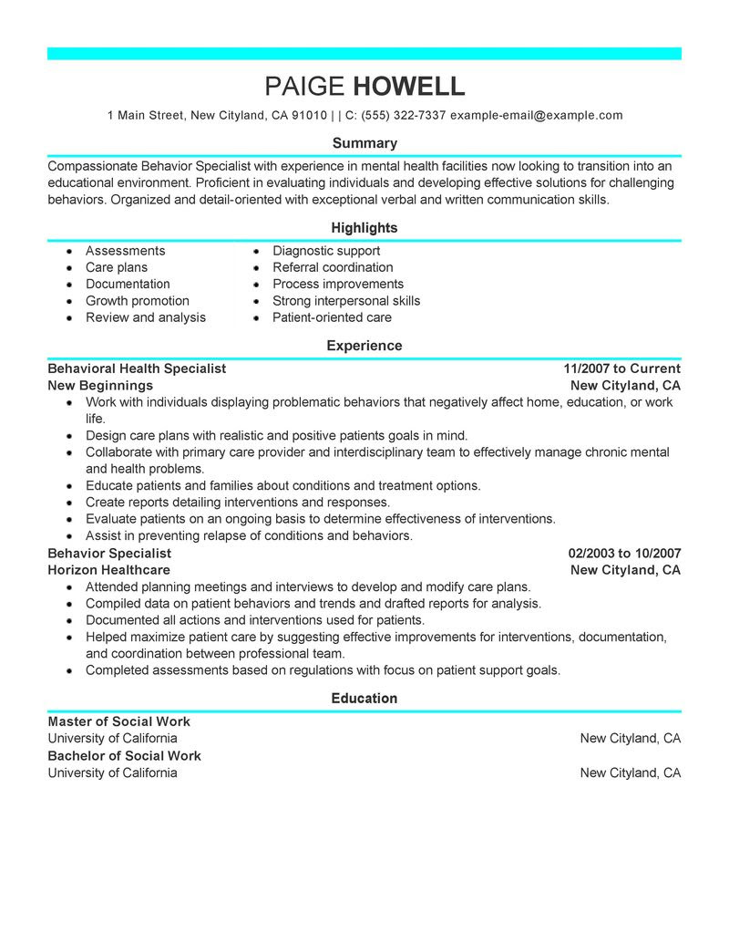 sample resumes for adults