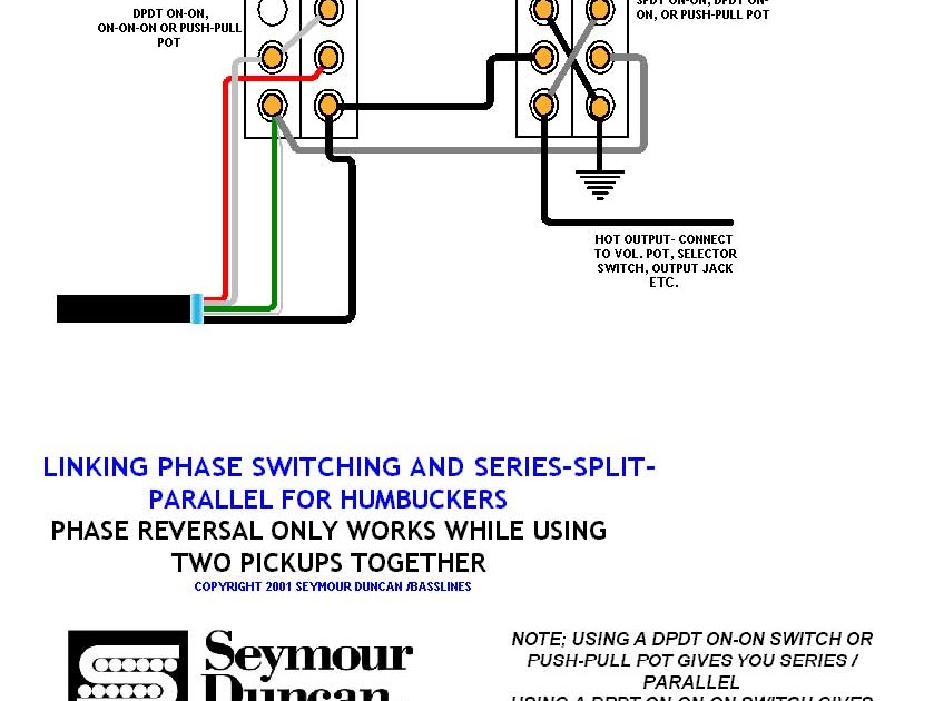 Single Humbucker Wiring Diagram