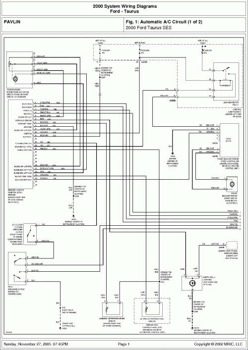 2003 Ford Tauru Stereo Wiring Diagram