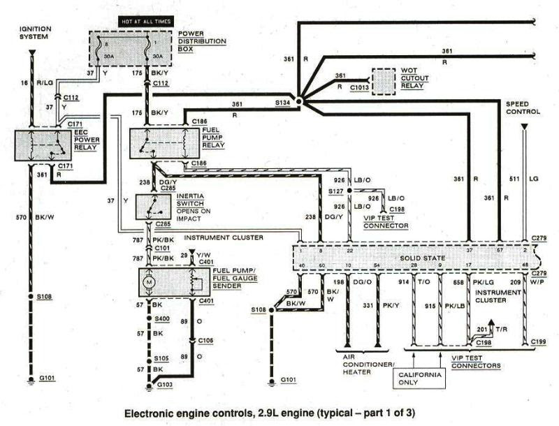 86 Ford Wiring Diagram Schematic