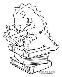 dulemba: Coloring Page Tuesday and e's news...