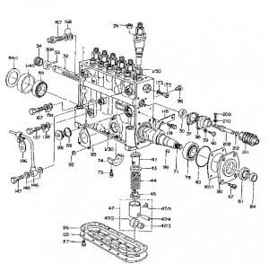 Konstruktionstraktorer, grävmaskin bulldozer: Dieselpump