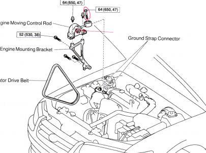 Wiring Diagram Database: 2003 Toyota Camry Motor Mount Diagram