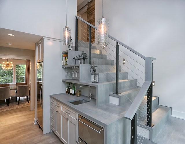 Kitchen Ideas Kitchen Ideas Under Stairs | Bar Under Stairs Design | Stair Storage | Basement Remodeling | Floating Shelves | Space | Escaleras
