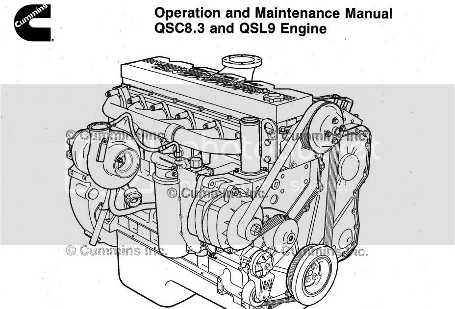 Auto Repair Manuals: Engine Cummins QSC8.3 and QSL9 2006