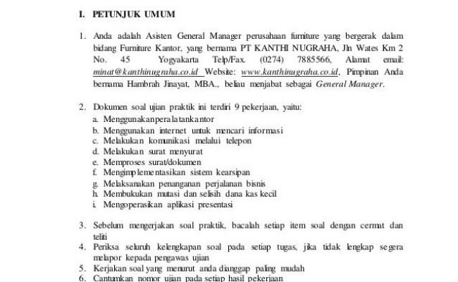 Contoh Soal Tes Administrasi Perkantoran Dan Jawabannya Kanal Jabar Cute766