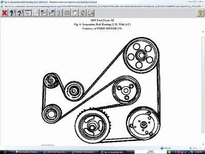 89 DIAGRAM FOR 2000 FORD FOCUS SERPENTINE BELT, SERPENTINE
