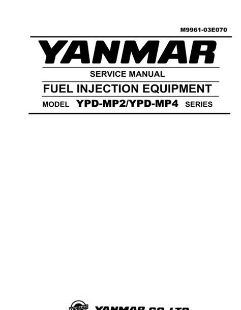 Download PDF Online yanmar fuel injection equipment model