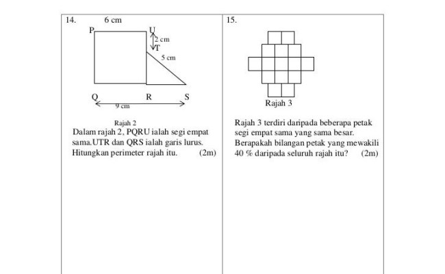 Soalan Matematik Kssm Little Ponny X Dokter Andalan