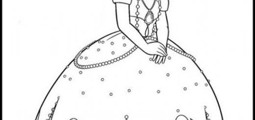 Ausmalbilder Prinzessin Sofia Die Erste