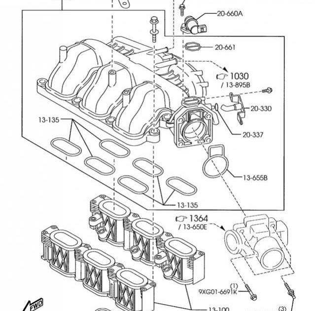 2004 Mazda Tribute 3 0 Engine Intake Manifold Diagram FULL