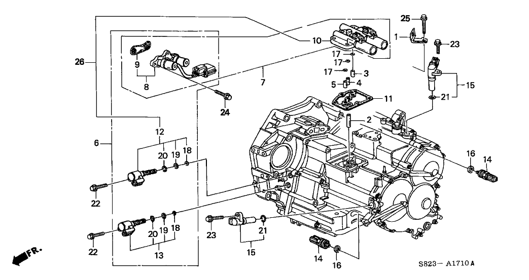 2001 Honda Accord V6 Cylinder Location