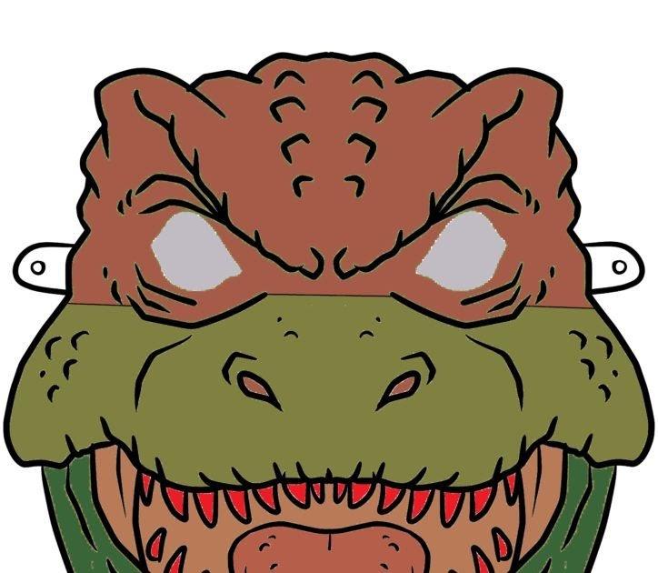 Malvorlage Dinosaurier Maske - Ausmalbilder Dinosaurier