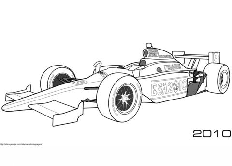 Ausmalbilder Rennwagen Formel 1