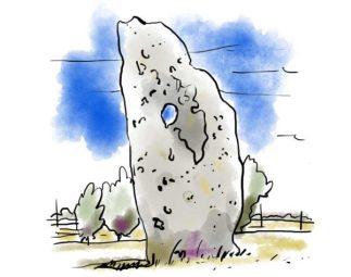Dolmen de Dalmeyrac en Aveyron, vue en coupe ©Benoît Blein