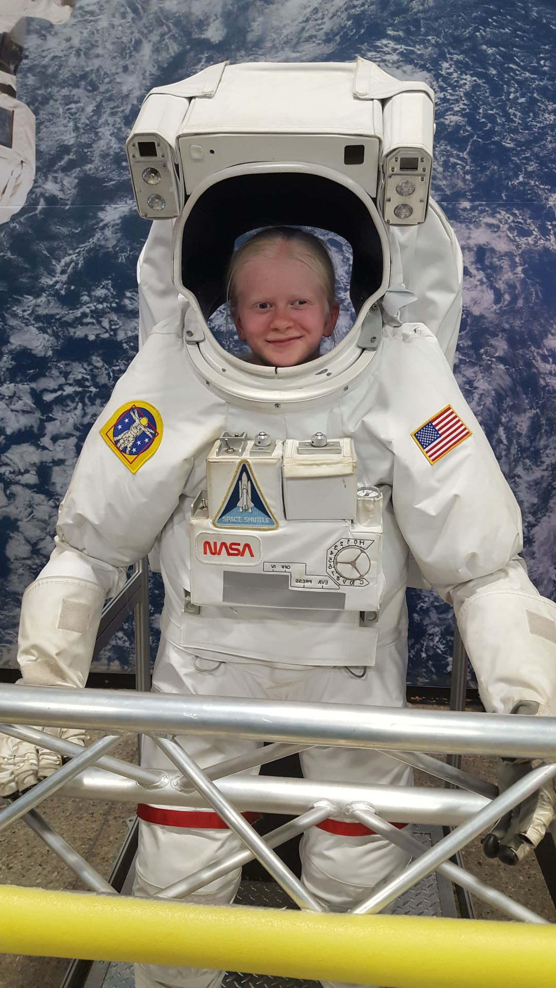 Space Camp Cadet Wearing Astronaut Suit