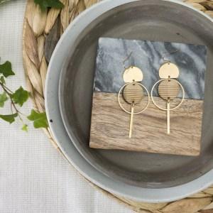 striped bamboo earrings