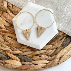 Brass and bamboo triangle archway hoops