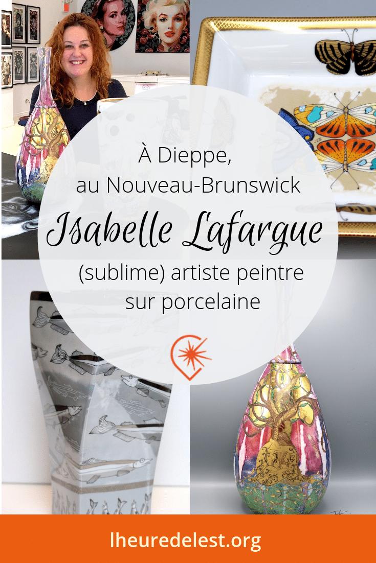 Isabelle Lafargue, artiste peintre sur porcelaine à Dieppe, Nouveau-Brunswick