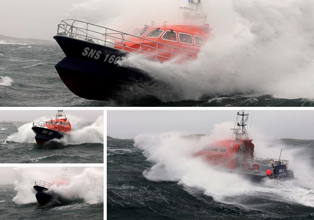 SNSM Saint-Pierre et Miquelon, le Jaro 2 dans le gros temps
