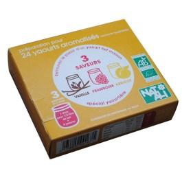 Ferment pour yaourt Vanille, Framboise et Abricot