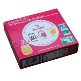 Ferment pour yaourt Vanille, Fraise et Citron