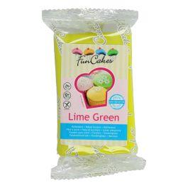 Pâte à sucre vert citron 250g