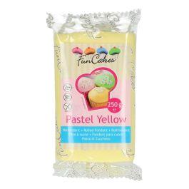 Pâte à sucre – jaune pastel – 250gr – Fun Cakes