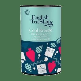 Infusion glacée bio de menthe, d'hibiscus et de fraise