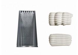 Douille inox à bûche 6 dents 20×3 MM – De Buyer