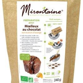 Préparation BIO moelleux chocolat aux écorces d'orange