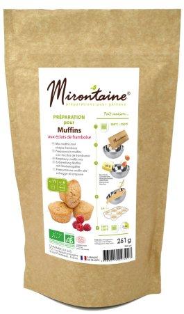 Préparation BIO muffins aux éclats de framboise – Mirontaine