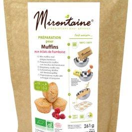 Préparation BIO muffins aux éclats de framboise