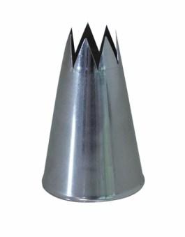 Douille inox cannelée F8 – 8 dents – De Buyer